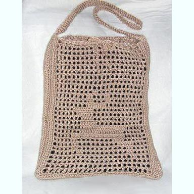 Free crochet purse bag and handbag patterns crocheted bag with leaping deer motif by sandi marshall ccuart Image collections