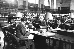 NYPL reading room 1953