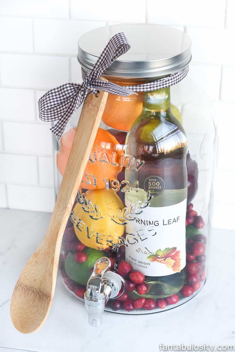 sweet welcome to your new home gift ideas. sangria gift idea 100 Great Ideas for Inexpensive Homemade Gifts