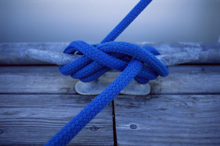 Close-up of rope tied in knot