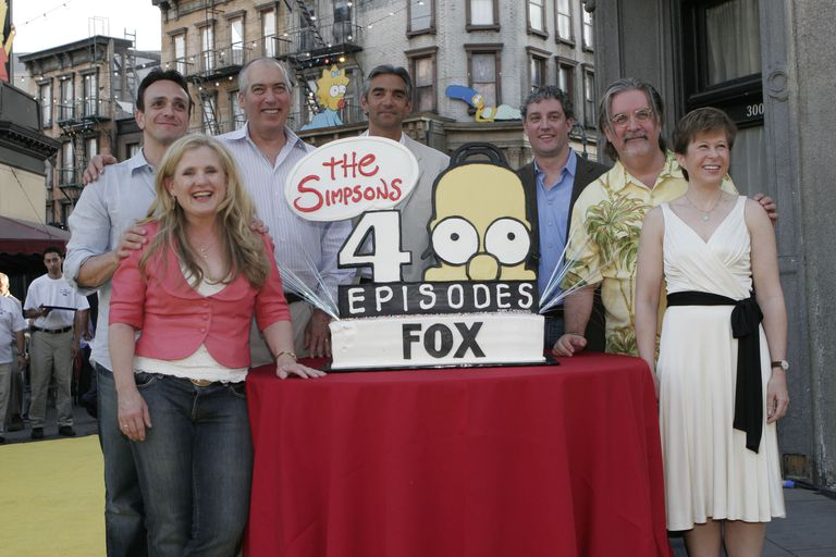 (L-R) cast members Nancy Cartwright, Hank ... executive producer Al Jean, creator and executive producer Matt Groening and cast member Yeardley Smith at THE SIMPSONS 400TH EPISODE BLOCK PARTY on the Fox Lot in Los Angeles, CA. Tuesday, May 8, 2007.