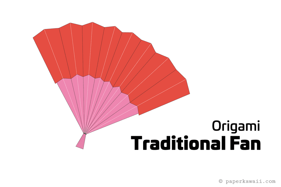 easy diy origami fan instructions