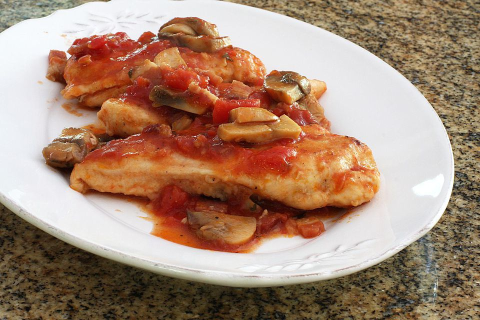 Chicken With Wine and Tomatoes