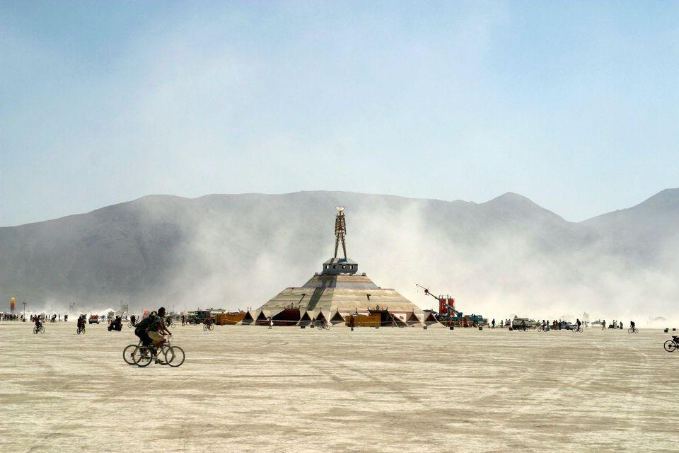 Burning Man effigy