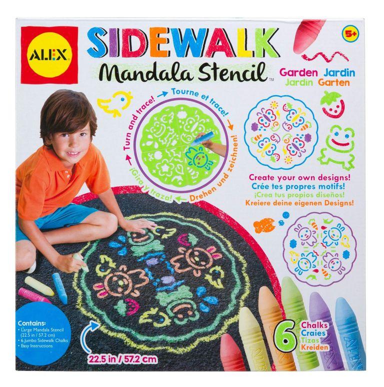 sidewalk Mandala stencil