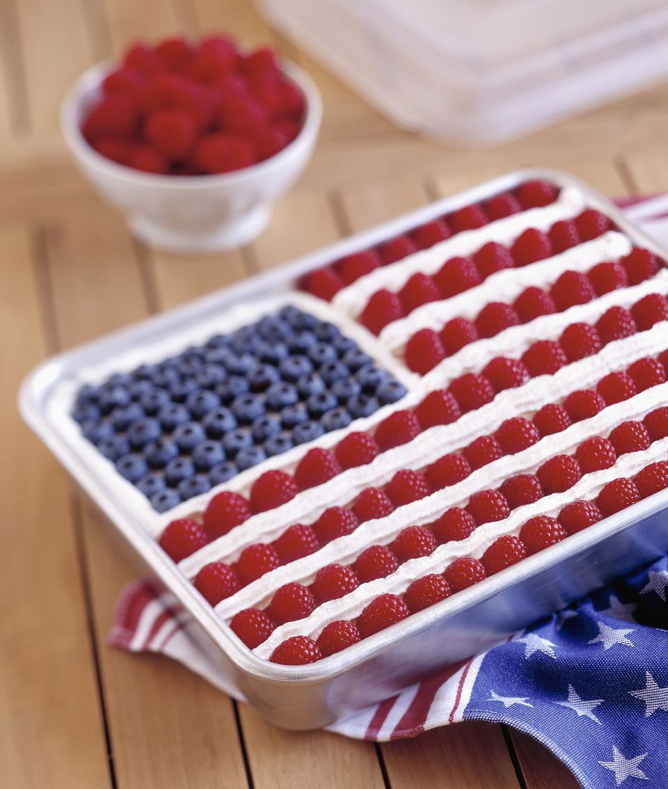 a flag cake