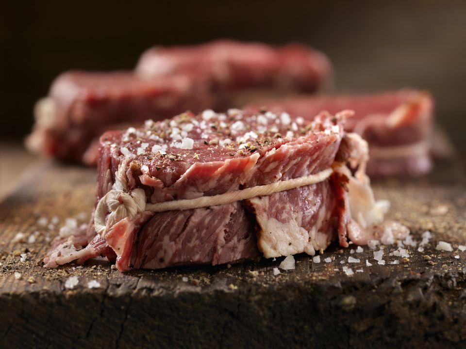 Seasoned steak fillets