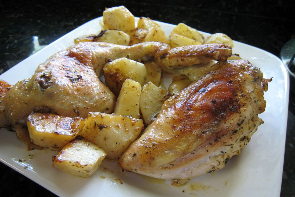 Sunday Dinner Roasted Chicken With Potatoes