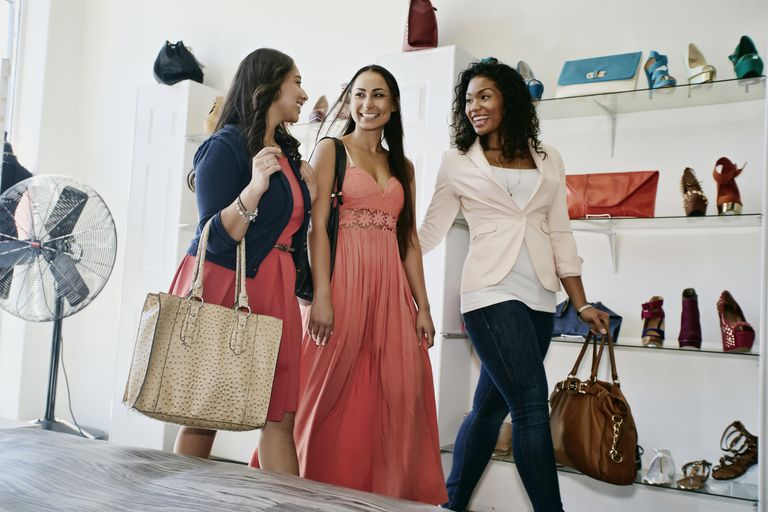 multiethnic women shopping