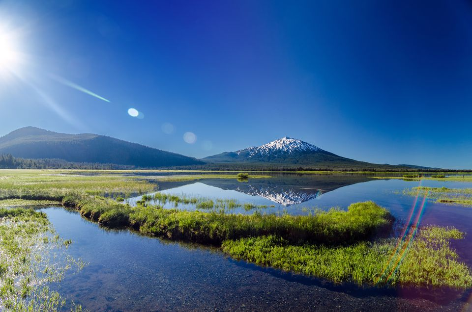 Idyllic Shot Of Mt Bachelor Against Clear Sky