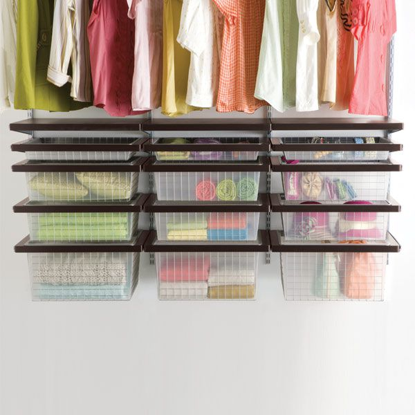 Elfa Closet with Adjustable Drawers