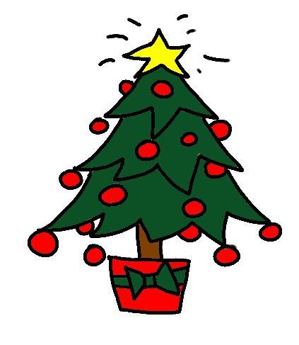 Draw a Christmas Tree Step by Step