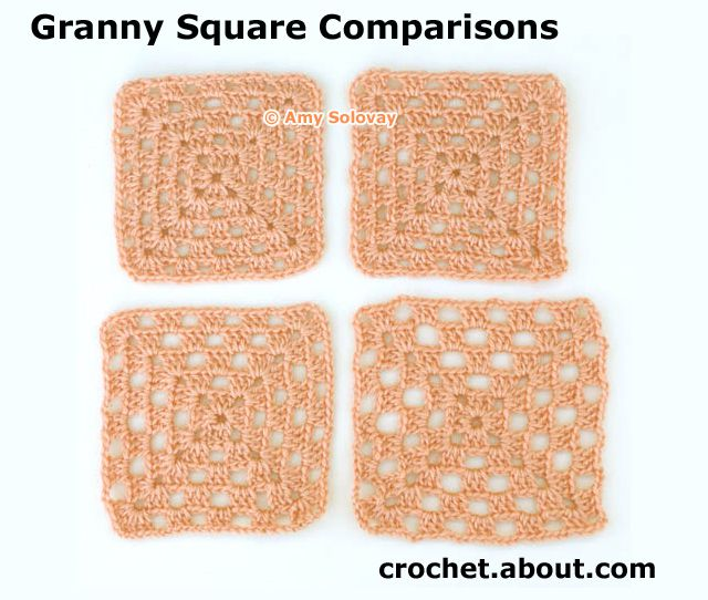 Comparing Different Crocheted Granny Squares