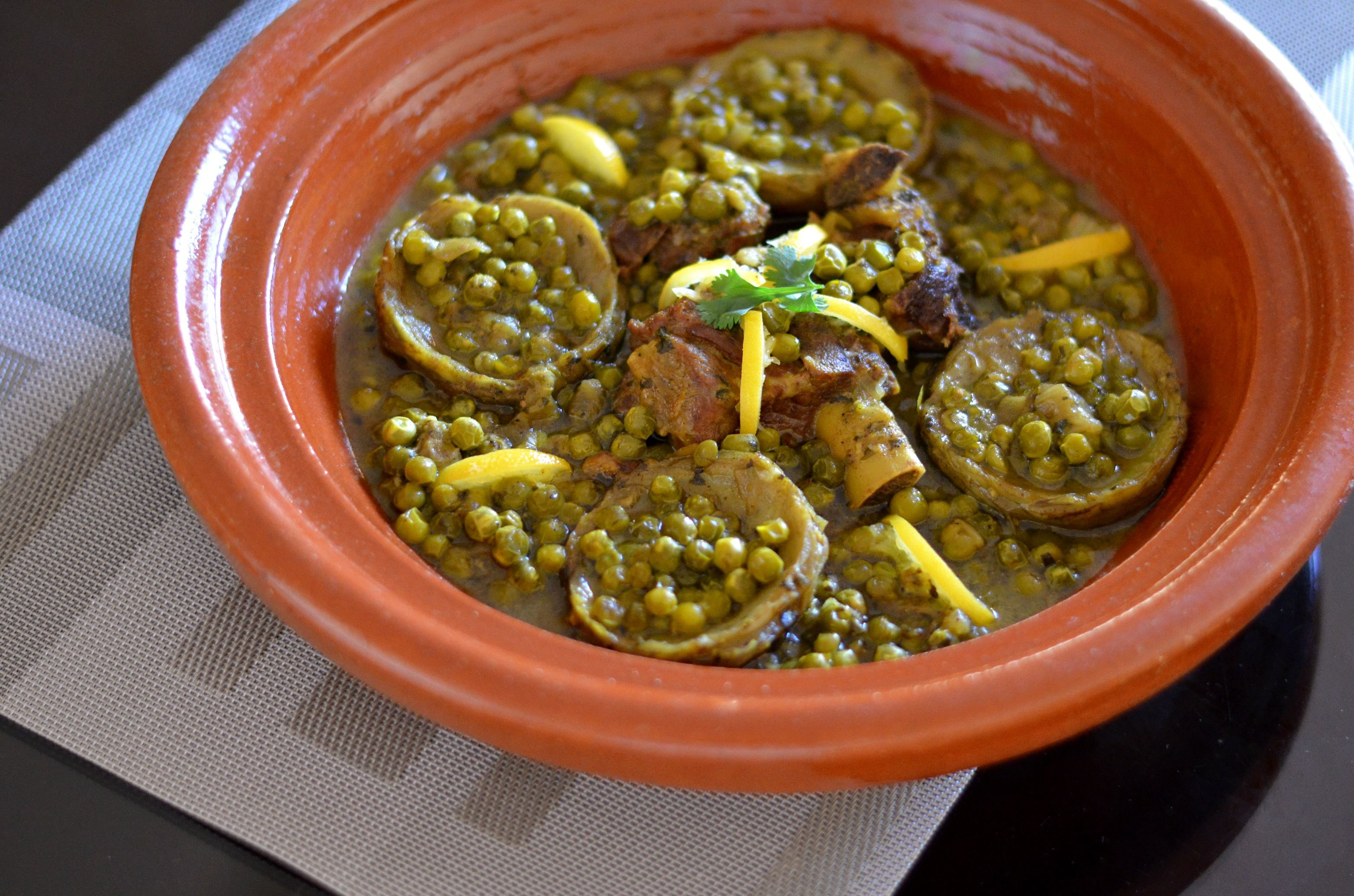 Moroccan Lamb Or Beef Tagine With Peas And Artichokes
