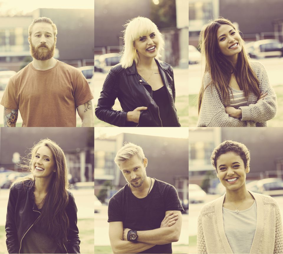Portraits of young adults