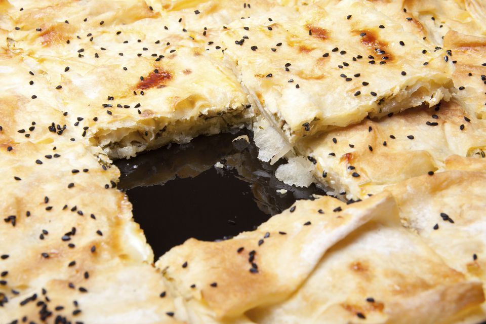 A plate of Turkish borek
