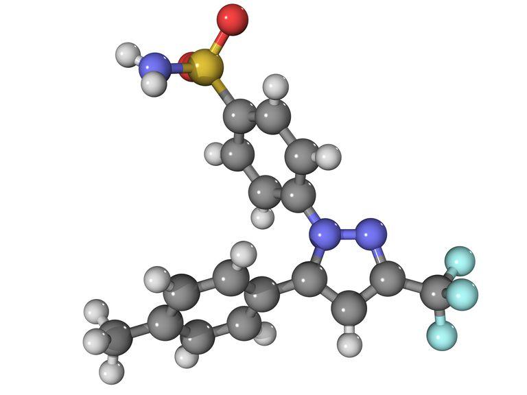 Celecoxib arthritis drug molecule