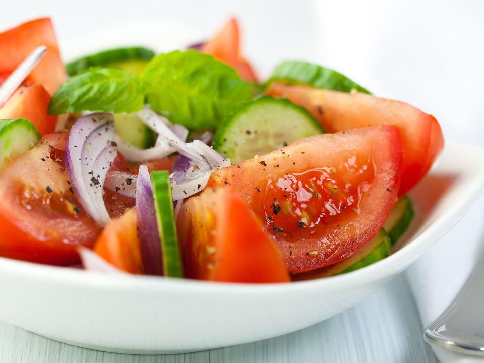 tomato basil cucumber salad