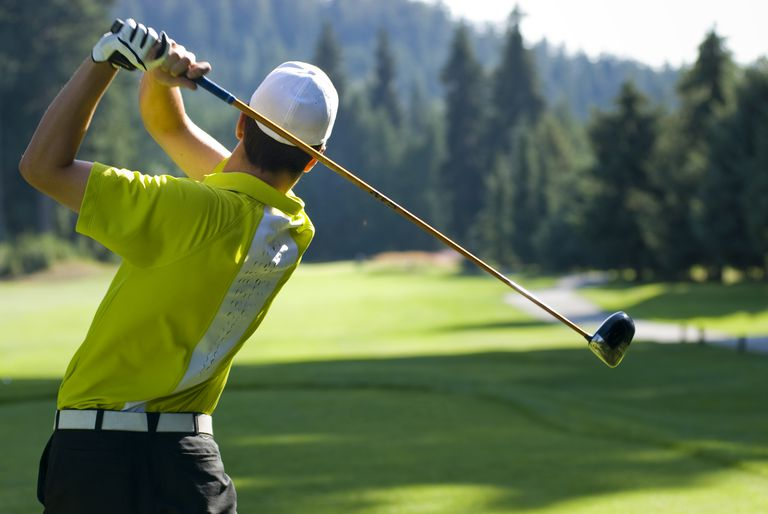 golf swing in the finish position