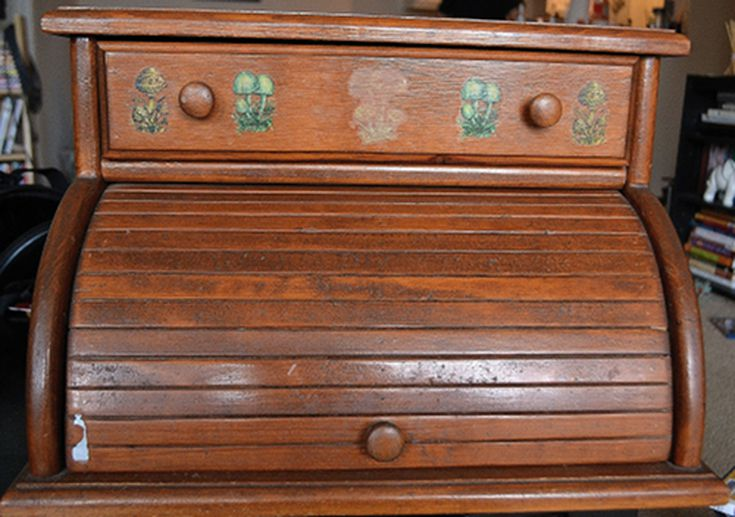 This Is How You Refurbish A Vintage Bread Box. How to Refurbish Particle Board Furniture