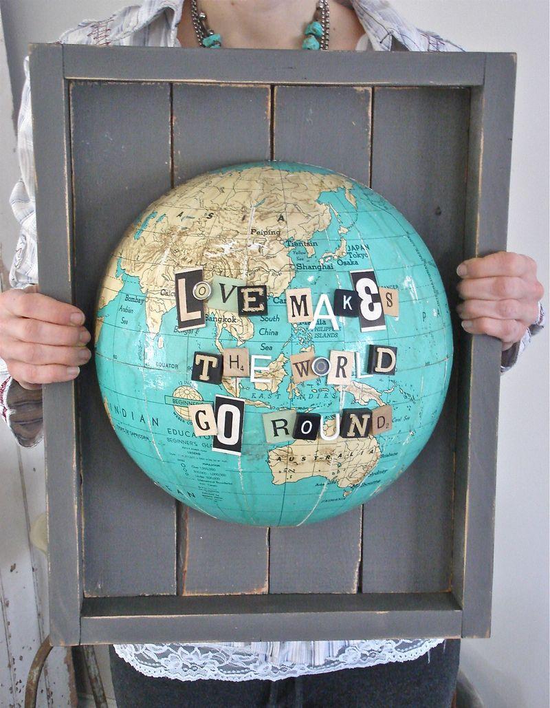 globe wall art