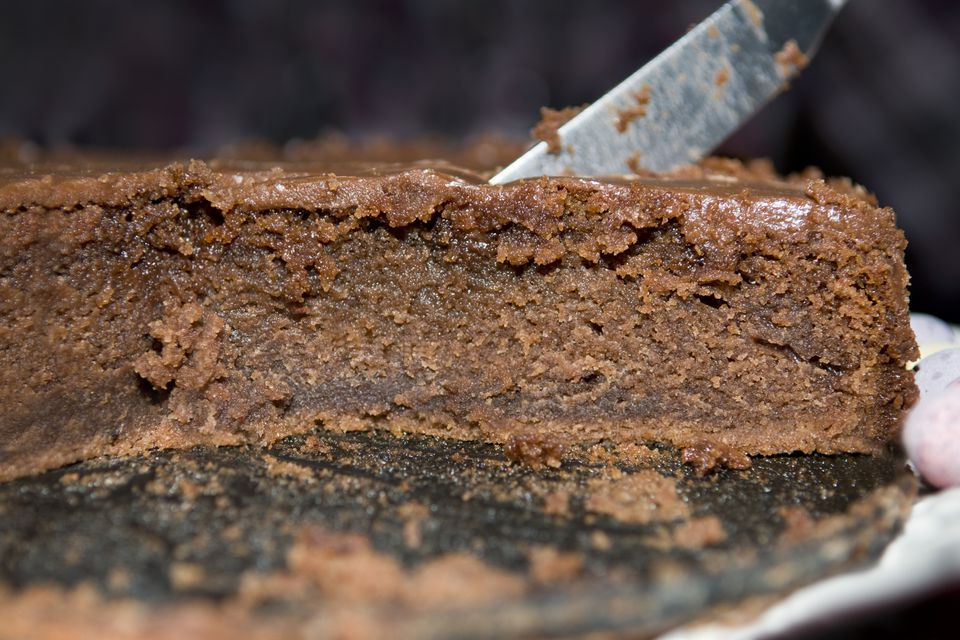 Home made moist chocolate cake