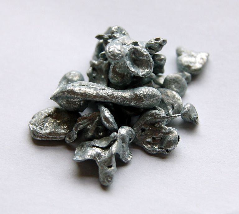 Zinc is a blue-gray metal also known as spelter.