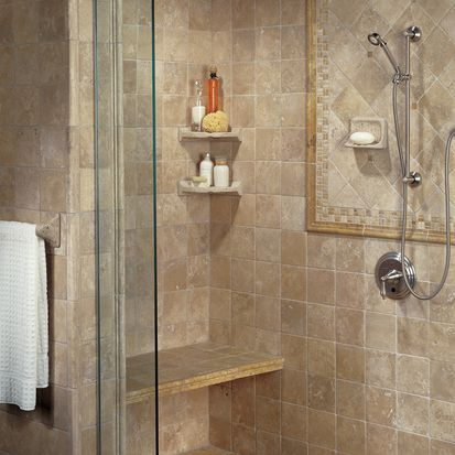 american olean travertine tile bath - Bathroom Tile Ideas Bathroom