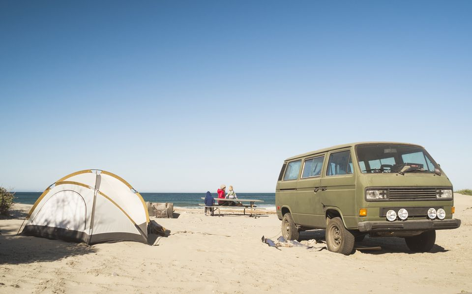 Camping on the Beach in California