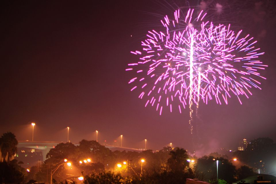 Clearwater Florida fireworks