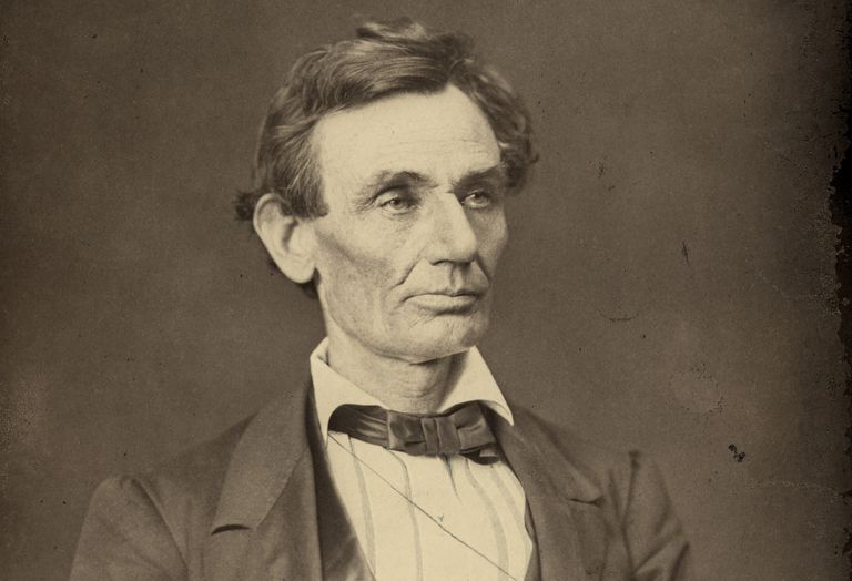 Abraham Lincoln photographed by Alexander Hesler in 1860.
