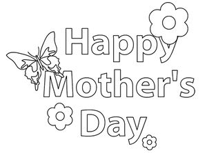 coloring 2 prints free mothers day coloring pages - Free Mothers Day Coloring Pages