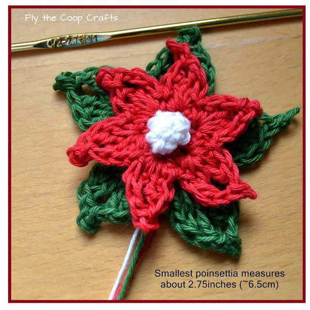 Poinsettia Flower Crochet Tutorial