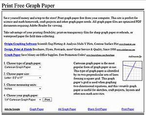 A screenshot of PrintFreeGraphPaper.com