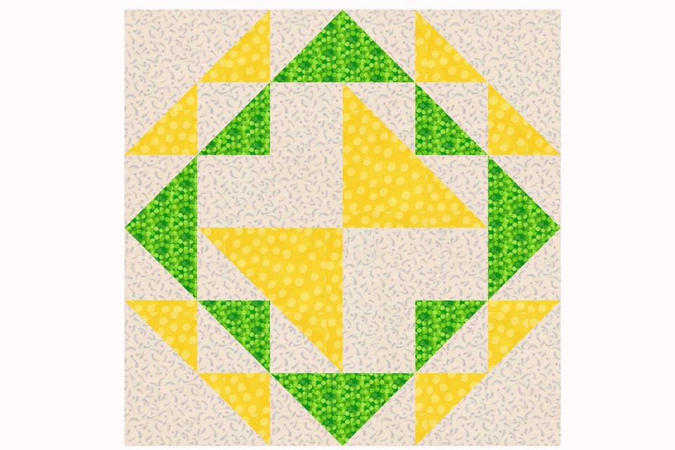 Corn and Beans Quilt Block Pattern