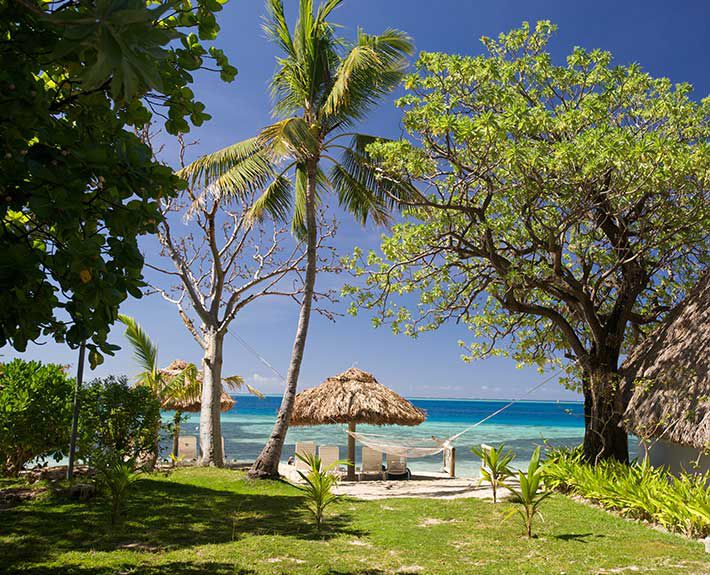 View from Ocean View Bure at Castaway Island in Fiji
