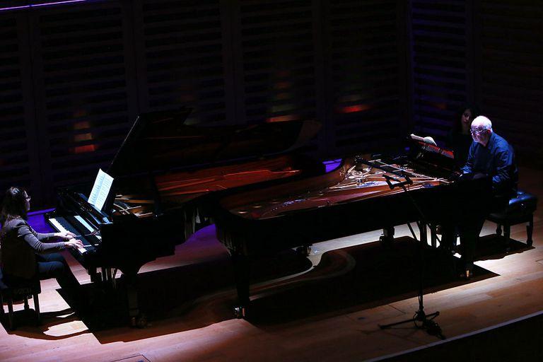 Men playing piano