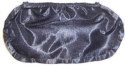 Photo of the body of the purse sewn.