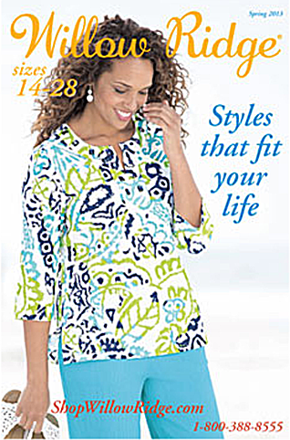 Picture of a free clothing catalog from Willow Ridge