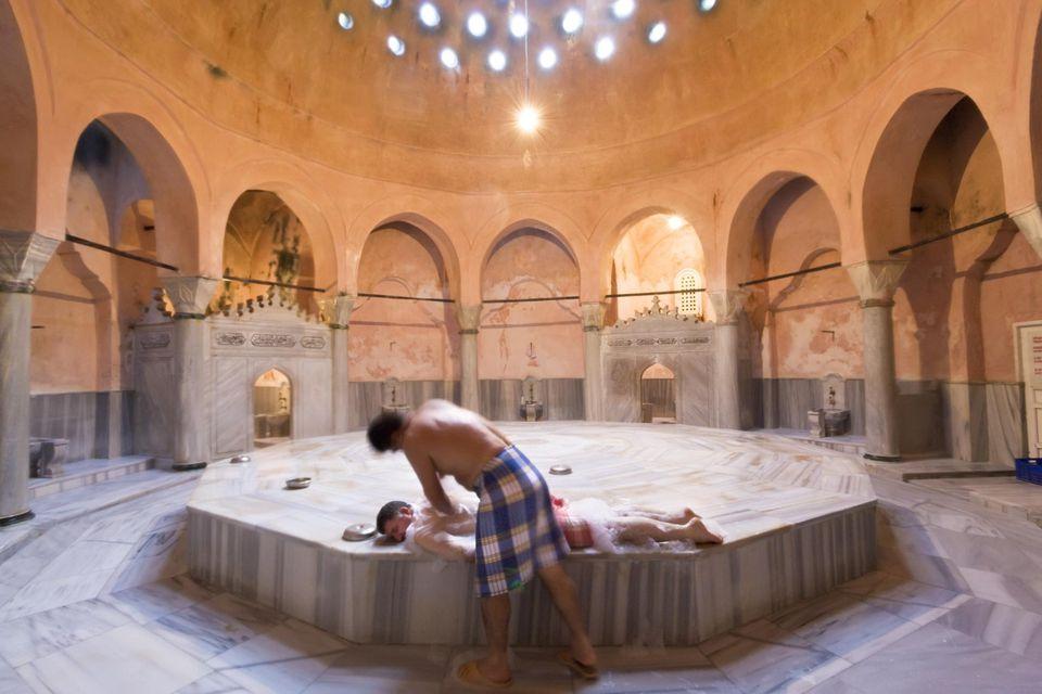 Traditional Turkish Bath or Hammam, Istanbul, Turkey