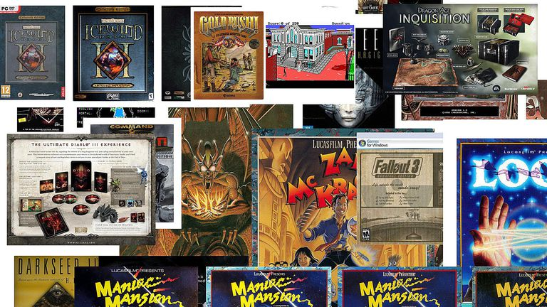 Box art from some of the most valuable PC Games