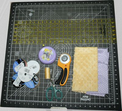 Gathering The Supplies for the Ribbon Tab Baby Blanket Pattern