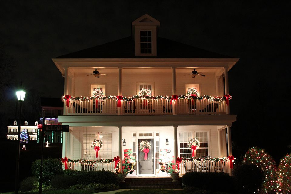 Decorated home in McAdenville