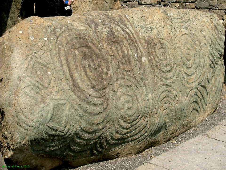 Newgrange - the Entrance Stone