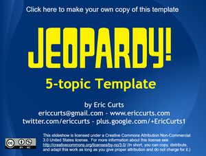 9 free jeopardy templates for the classroom a jeopardy template in blue and yellow pronofoot35fo Image collections