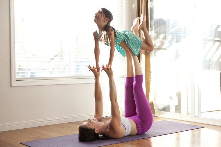 Mother and child yoga