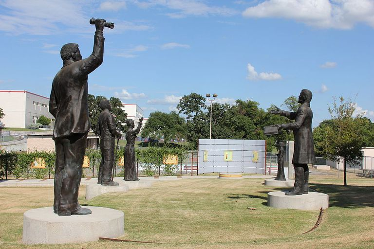 Juneteenth Memorial Monument at the George Washington Carver Museum in Austin, Texas