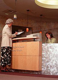 senior-woman at front desk