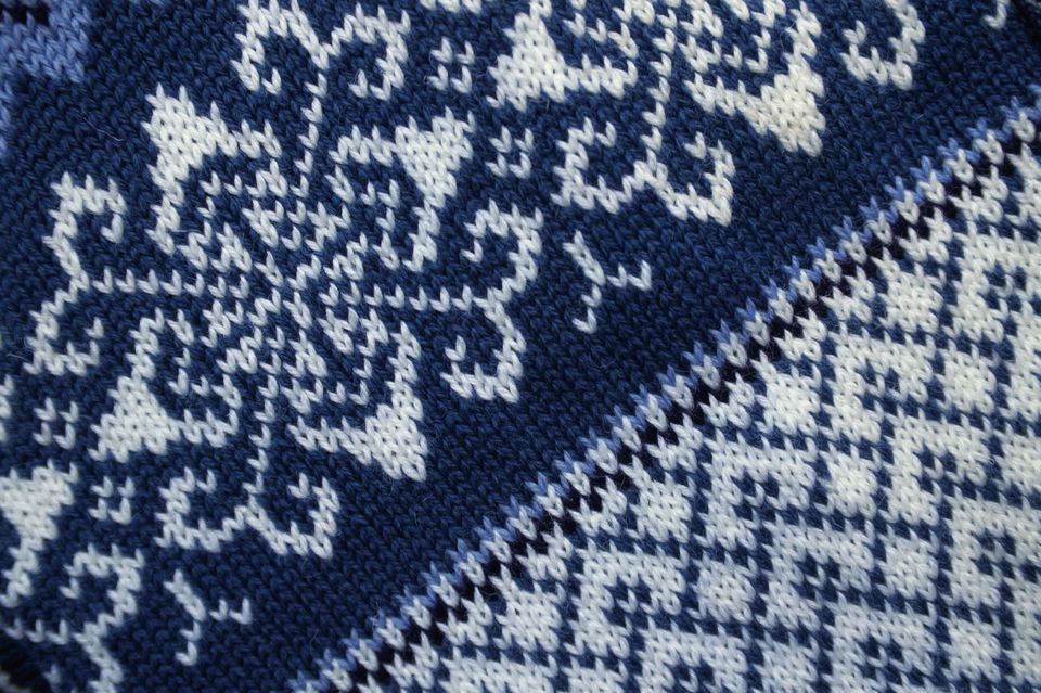 Detail of Norwegian Wool Sweater