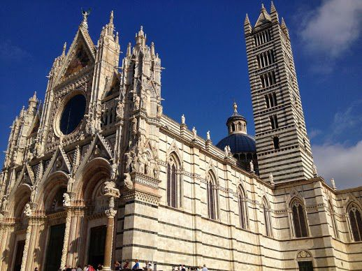 Exterior of the Duomo in Siena, Italy